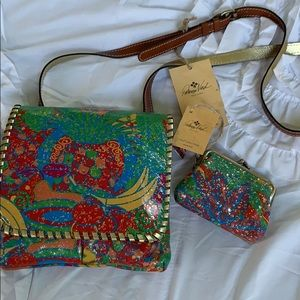 NWT Patricia Nash crossbody handbag w/ coin purse